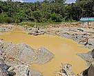 área degradada por minera??o dentro do Parque Nacional Montanhas do Tumucumaque, no Amapá