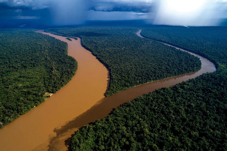 Encontro dos rios Guariba e Aripuanã em Apuí - Amazonas - Amazônia